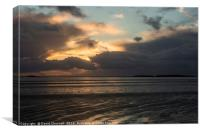 Stormy West Kirby Sunset , Canvas Print