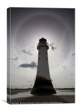 Perch Rock Lighthouse Halo, Canvas Print