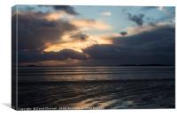 Stormy Hilbre Island Silhouette, Canvas Print