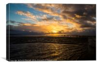 Stormy West Kirby Marine Lake Golden Hour, Canvas Print