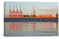 Liverpool Docks Reflection, Canvas Print