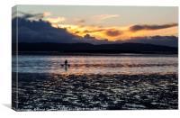 Sunset Dog Walk, Canvas Print