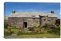 Tintagel Old Post office, Canvas Print