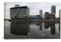 Media City Reflection , Canvas Print
