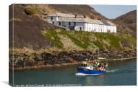 Boscastle Fishing Boat, Canvas Print