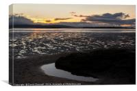 River Dee Estuary Dusk, Canvas Print