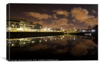 Egerton Dock Reflection, Canvas Print