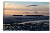 Hilbre Island Silhouette, Canvas Print