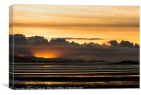 Moody North Wales Coast Sunset , Canvas Print
