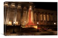 Weeping Window at St Georges Hall Liverpool  , Canvas Print