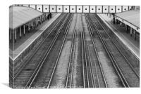 Train Line Symmetry, Canvas Print