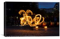 Fire Spinning , Canvas Print