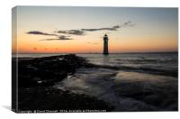 Perch Rock Lighthouse , Canvas Print