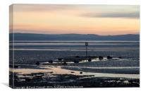 River Dee Estuary Dusk , Canvas Print