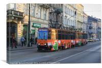Krakow Tram , Canvas Print