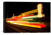illumination Steam Tram , Canvas Print