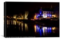 Caernarfon Waterfront, Canvas Print