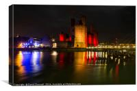 Caernarfon Castle Nightscape, Canvas Print