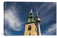 Alexanderplatz Towers Abstract , Canvas Print