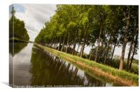 Bruges To Damme Canal, Canvas Print