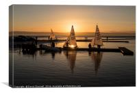 Serene Sundown Sailing, Canvas Print