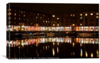 Albert Dock Reflections, Canvas Print