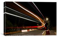 Light Trail Bridge, Canvas Print
