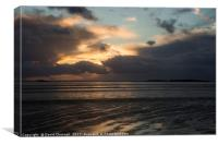 Hilbre Island Stormy Sunset, Canvas Print