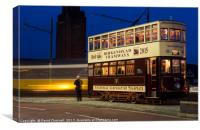 Hong Kong Tram 70, Canvas Print