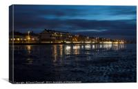 Hoylake Promenade Blue Hour , Canvas Print