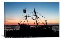 Sailing The Sunset  , Canvas Print