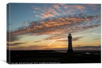 Perch Rock Lighthouse , Canvas Print
