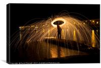 Wire Wool Spinning  , Canvas Print