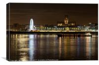 Mersey Moonshine, Canvas Print