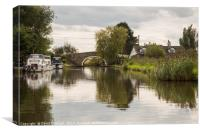 Leeds Liverpool Canal , Canvas Print