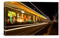 Blackpool illuminations , Canvas Print