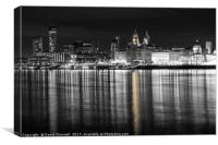 Liverpool Waterfront Selective Colour , Canvas Print