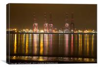 Liverpool 2 Container Terminal , Canvas Print