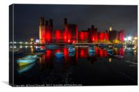 Caernarfon Castle Reflection , Canvas Print