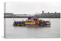 Mersey Ferry Snowdrop , Canvas Print