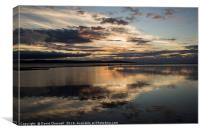 West Kirby Sunset Reflection  , Canvas Print
