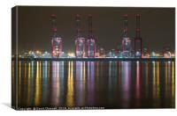 Liverpool 2 Container Terminal Magic, Canvas Print