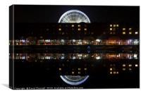 Albert Dock and Liverpool Big Wheel, Canvas Print