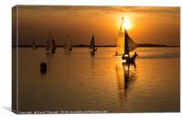 Sunset Sailing , Canvas Print