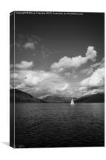 White Sail, Dark Water, Canvas Print