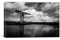 Titan Crane at Clydebank, Scotland, Canvas Print