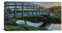 Bridge over Ynys Estuary, Canvas Print