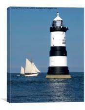 Trwyn Du Lighthouse, Canvas Print