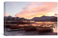 Derwent Water sunset, Canvas Print
