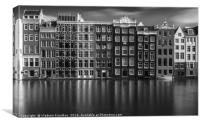 Canal Houses in Amsterdam, Canvas Print